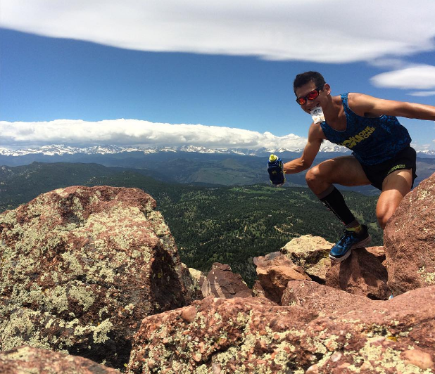 HOKA Athlete Sage Canaday, our guide to running in Boulder, CO. Shown here at Bear Peak.