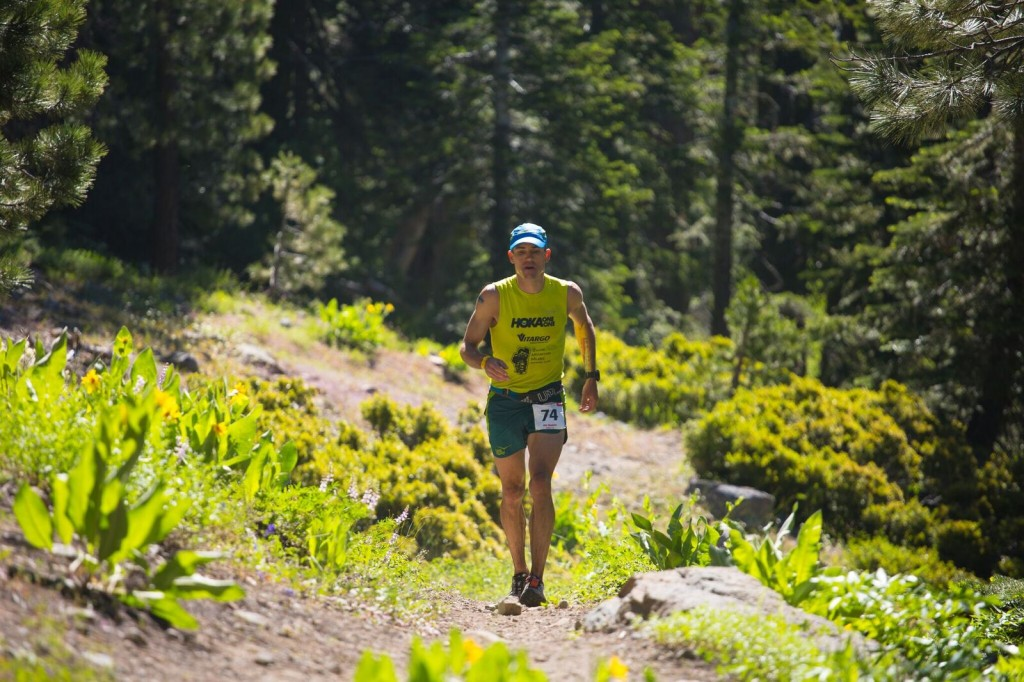 Bob Shebest competing in Western States 100 in Northern California.