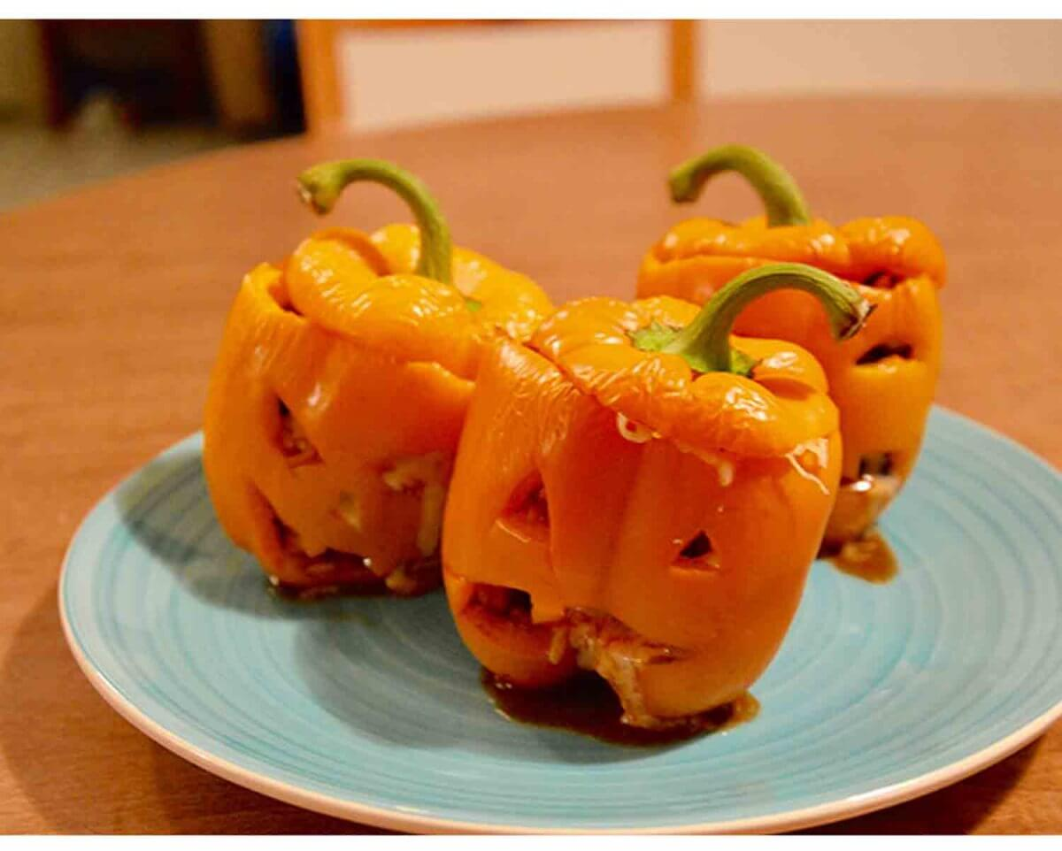 Fast Food: Halloween Stuffed Peppers