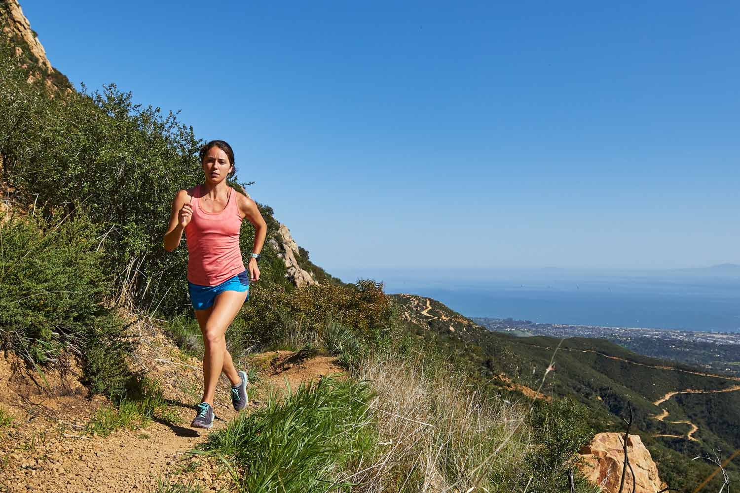 The simple trick to running fast downhill